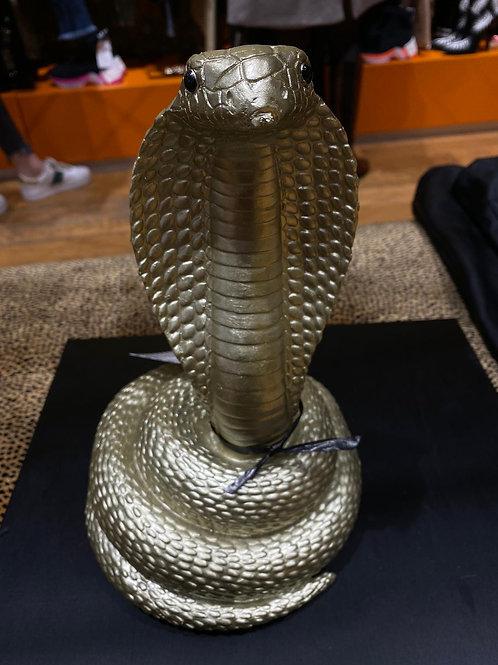 Tirelire serpent or
