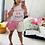 Thumbnail: Short jupette jean bi colors rose et blanc