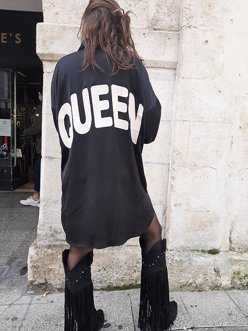 Robe chemise satin Queen