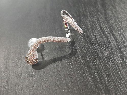 Boucle serpent argent et strass