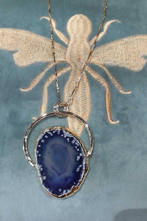 Collier pierre naturelle bleu