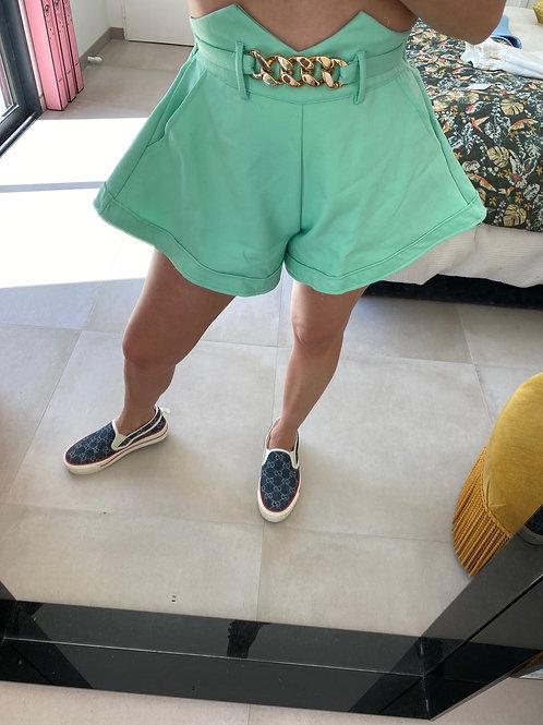 Short jupette vert pastel
