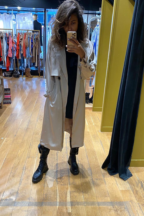 Trench satiné beige