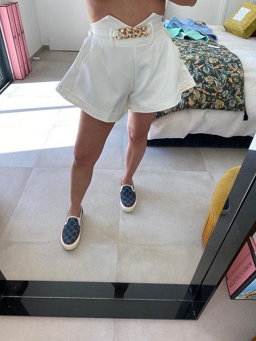 Short jupette blanc