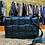 Thumbnail: Sac cuir bleu métallisé matelassé