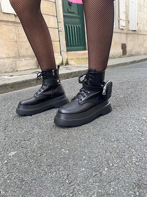 Boots plateforme avec poche amovible