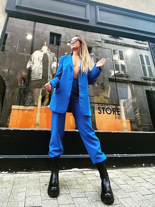 Veste de blazer bleu électrique