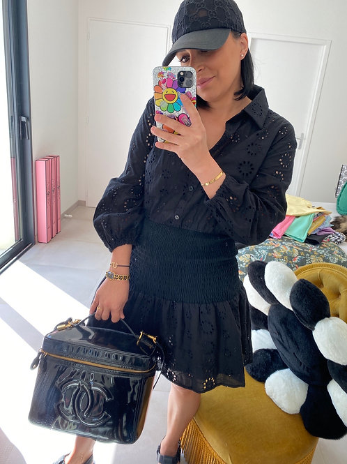 Robe noir manche bouffante