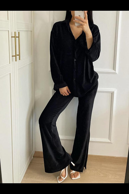 Pantalon en velours évasé