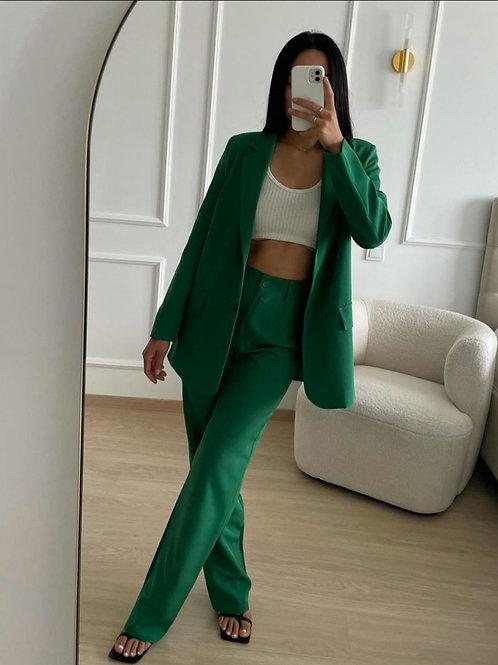 Pantalon de tailleur verte