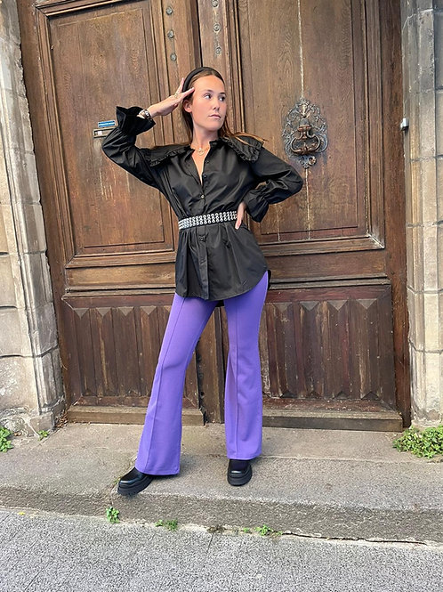 Pantalon évasé violet