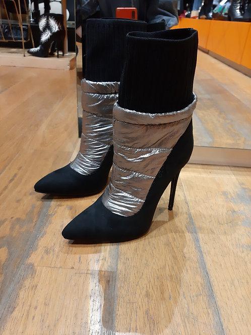 Boots doudoune argent