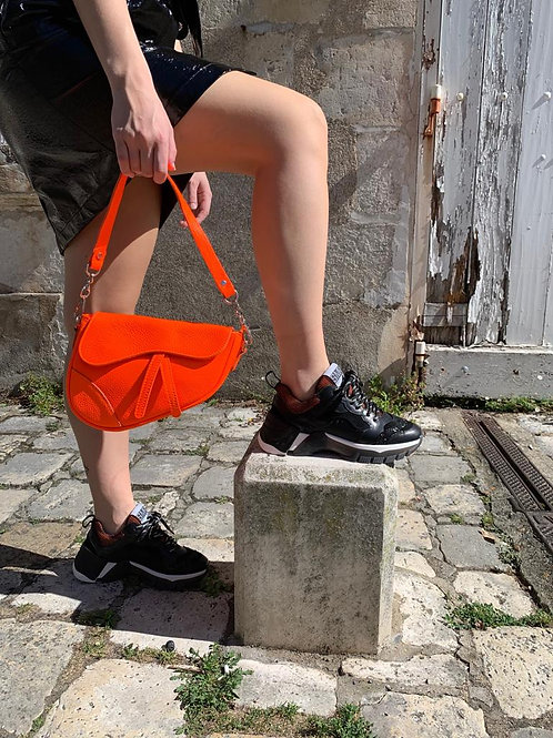Basket cuir noir semerdjian