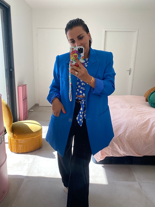 Blazer overzise bleu