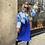 Thumbnail: Robe satin bleu électrique