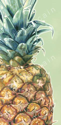 Pineapple- Acrylic on Canvas