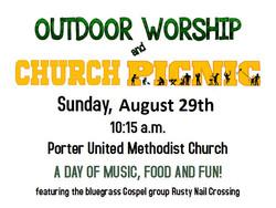 Outdoor Worship flyer 2021