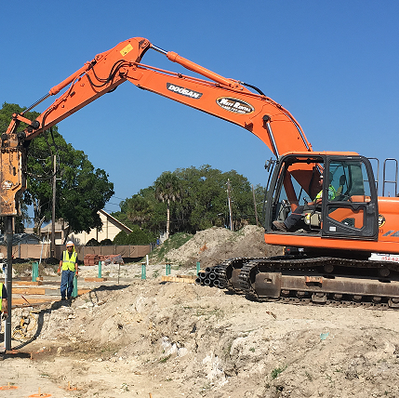 Ductile Iron Pile Foundation Install for Apartment Complex
