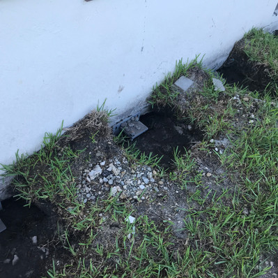 Foundation Remediation due to Buried Debris