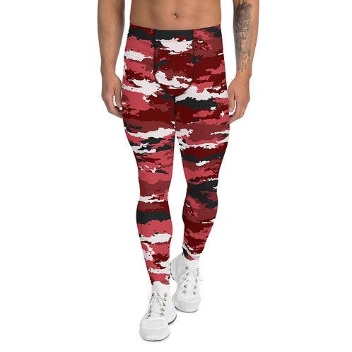 Red Camo Leggings for Men