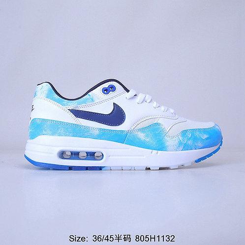 Nike Air Max 1 White Blue Casual Shoes