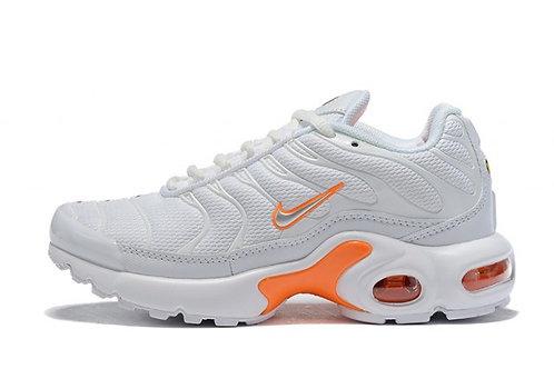 Kids Summer Shoes Nike Air Max Plus TN White Orange
