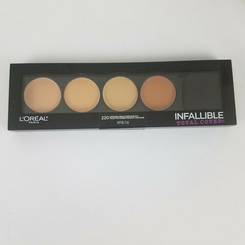 L'Oreal Infallible Total Cover Concealing & Contour Kit #220