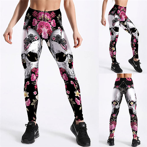 Wholesale XS-XL Women  Fashion Cartoon Print Breathable Leggings