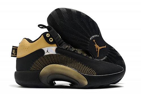 Men's Air Jordan 35 Black Gold Basketball Shoes
