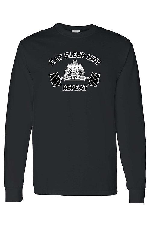 Unisex Eat Sleep Lift Workout Fitness Humor Long Sleeve shirt