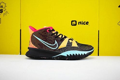2020 Nike Kyrie 7 Pre Heat EP Negro Amarillo Rojo DC0588-002 Zapatillas de balon