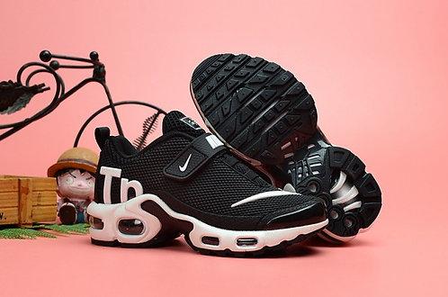 Nike Air Max Plus Tn KPU Black White Kids Running Shoes