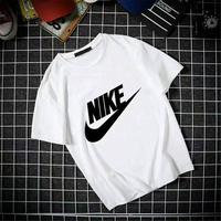 Men Fashion Loose Round Collar Letter Print Short Sleeve T-shirt