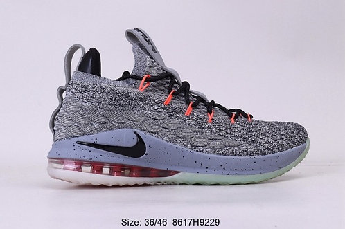 Nike LeBron 15 Grey Orange Mens Running Shoes