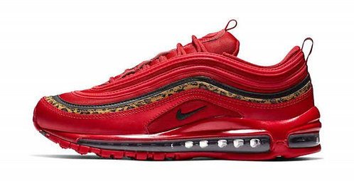 "Unisex Nike Air Max 97 ""Red Leopard"" Footwear Running Shoes"