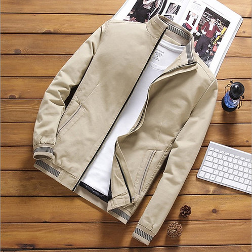 Men Casual Stand Collar Comfortable Casual Jackets