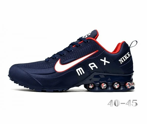 Nike Shox Reax Run Navy Blue Red White Mens Casual Shoes