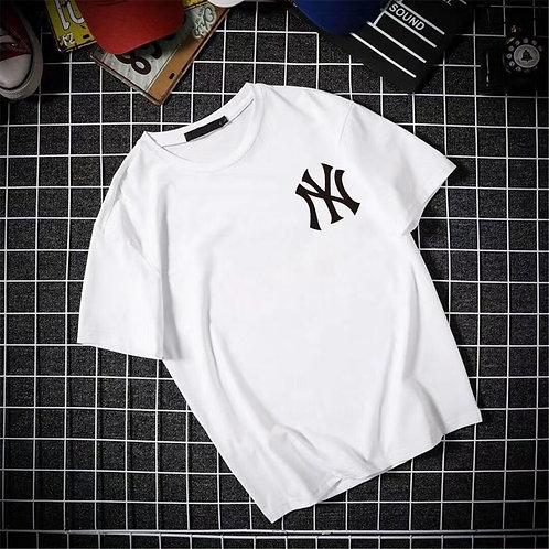 Men Fashion Plus Size Round Collar Short Sleeve Print T-shirt