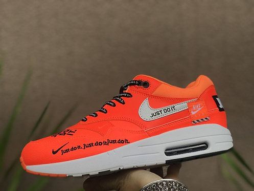 Mens Womens NikeLab Air Max 1 Just do it Movement Fitness Total Orange