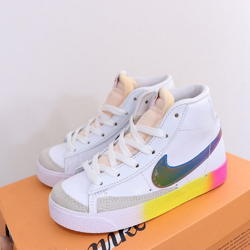 Nike SB Blazer White Multi Color kids Skateboarding Shoes