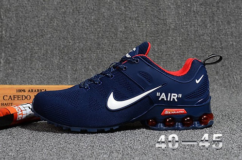 Nike Shox Reax Run Navy Blue White Red Mens Running Shoes