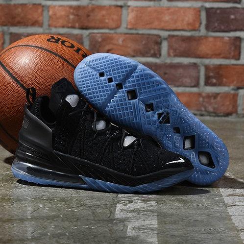 Unisex Nike 18 Black LeBron Silver Womens Mens Basketball Shoes