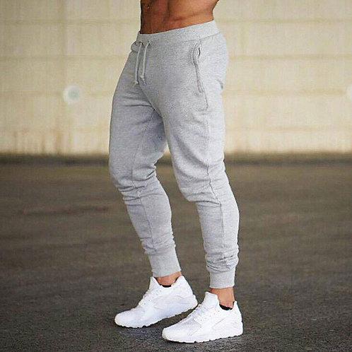 Men Solid Color Sports Jogger Pants
