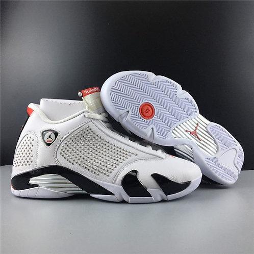Mens Shoes Nike Air Jordan 14 Retro Supreme White BV7630-106