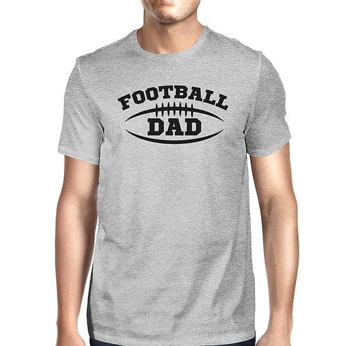 Football Dad Mens Grey Round Neck Cotton Shirt