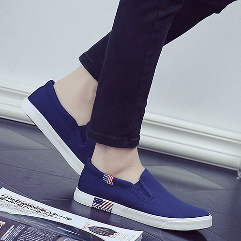 Men Flat Casual Canvas Loafers Shoes