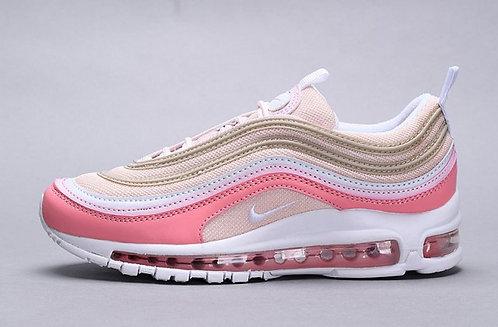 Womens Nike Air Max 97 Sneakers Premium Particle Beige & Summit White