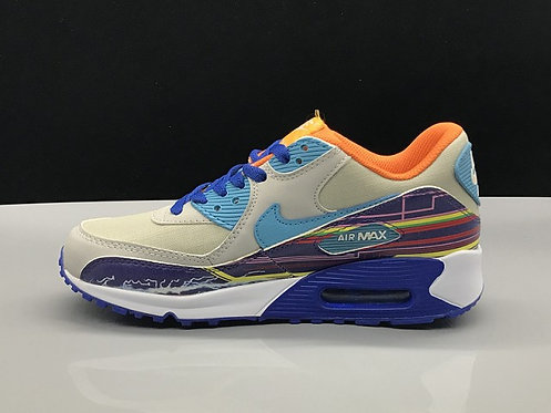 Womens Nike Air Max 90 Running Shoes Multi