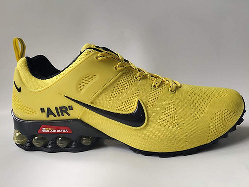 Nike Shox Reax Run Yellow Black Mens Running Shoes
