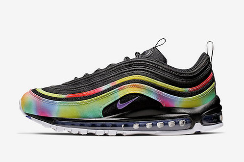 Nike Air Max 97 Tie Dye Black CK0841-001 Mens Womens Footwear Running Shoes